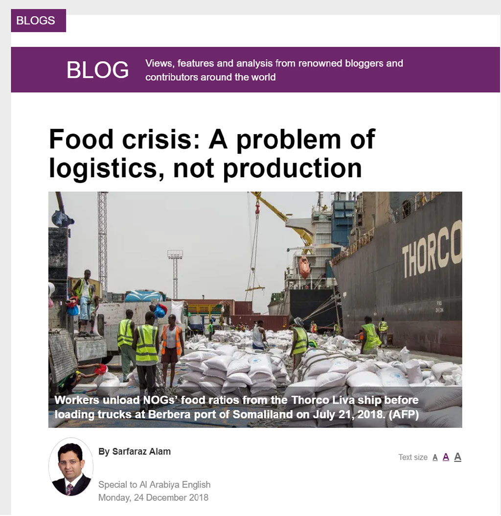 Digitalized logistics can avert the global food crisis