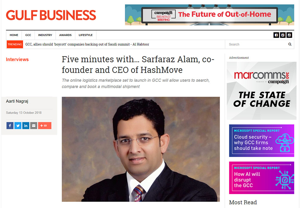 Five minutes with Sarfaraz Alam, co-founder, and CEO of HashMove